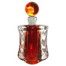 Archimede Seguso 50's Murano Large Art Glass Vanity Perfume Bottle