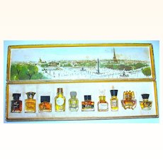Les Meilleurs Parfums de Paris Boxed Set ~ 10 Unused Mini Full Perfume Bottles