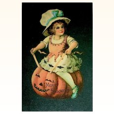 1919 Wolf Company Early Halloween Series Clapsaddle Postcard