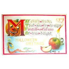 Foretelling a Future of True Delight Halloween Postcard