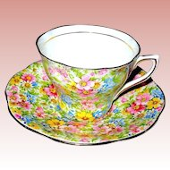 Gorgeous Rosina Floral Chintz English Bone China Cup & Saucer