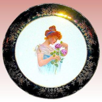 Beautiful Antique Taylor Knowles Commemorative Portrait Plate ~ Tiffany Finish