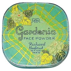 "Scarce Richard Hudnut ""Gardenia"" Face Powder Sample Tin, c. 1915"