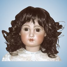 Lovely Vintage Dark Brown Mohair Doll Wig - Sz 14-15 - Excellent