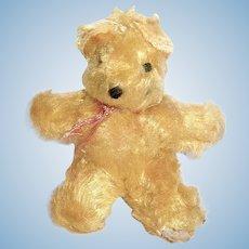 Adorable Tiny German Mohair Teddy Bear for Doll House