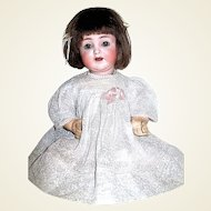 ABG 1351 Adorable Cabinet Baby Doll, Original German Marked Mohair Wig on SALE