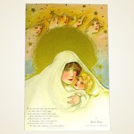 """Childhood Days"" Unused Schmucker Set of 6 Postcards w Envelope, Detroit Publishing Co."