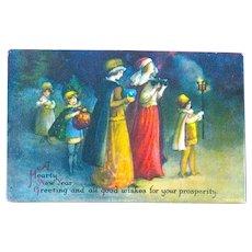 Rare Clapsaddle Renaissance Christmas Celebration Postcard