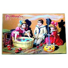 Great Tuck Halloween Postcard - Party Game, Steaming JOL