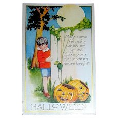 Whitney Halloween Postcard - Boy's Wish - Free Shipping