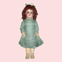"Delightful Armand Marseille 21"" Doll, Pretty Costuming, Excellent"