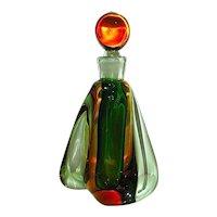 Gorgeous Archimede Seguso  50'S Murano Art Glass Perfume Bottle - Perfect Condition