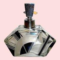 Karl Palda Art Deco Perfume Atomizer, Geometric Shape & Decoration
