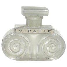 """Lentheric Paris """"MIRACLE"""" Perfume Bottle - FACTICE Label"""