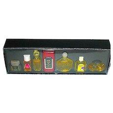 Bloomingdale's 1980's Seven Miniature Perfume Bottle Set, Original Formulas