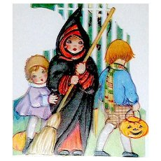 Halloween Whitney Postcard - Great Graphics - MINT