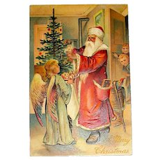 Old World Santa Claus International Postcarte, Germany - EXCELLENT