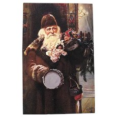 Santa Claus Antique Tuck Oilette 1029 Series Weihnachtsmann Postcard