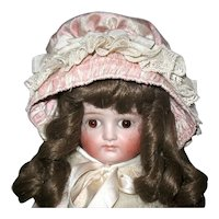 Gorgeous Kestner Closed Mouth, Turned Shoulder Head Doll - Beautifully Dressed