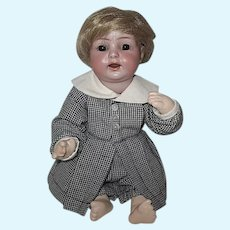 """Adorable Antique  K*R 122 Character Baby Doll -10""""- Replaced Body"""