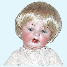 """Antique 16"""" German Character Baby Doll - Perfect Bisque Head, Exceptional Body"""