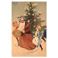 SALE - French Santa Claus  Unused Postcard - Raphael Kirchner PARIS - Excellent