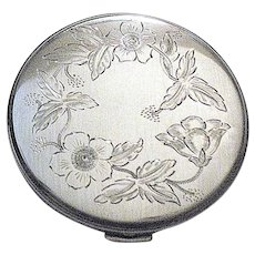 MEXICAN 40's Sterling Silver FLAPJACK Compact - ARGENTA, Mexico City - Excellent