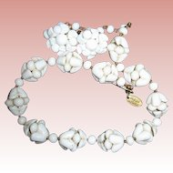 Miriam Haskell Vintage Shell Necklace & Earrings Set