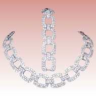 60% Off Ciner 20's - 30's Art Deco Rhinestone Choker & Bracelet