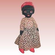 Early 20th Century Black Cloth Doll--SALE