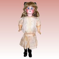 Sweet AM 1894 Doll in Beautiful Original Silk Dress & Undergarments