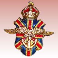 Silson Patriotic British World War II War Relief Pin