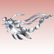 French Sterling Silver Brooch by Delphine Nardin Paris