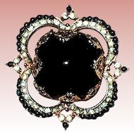Gorgeous Corocraft Victorian Designed Brooch