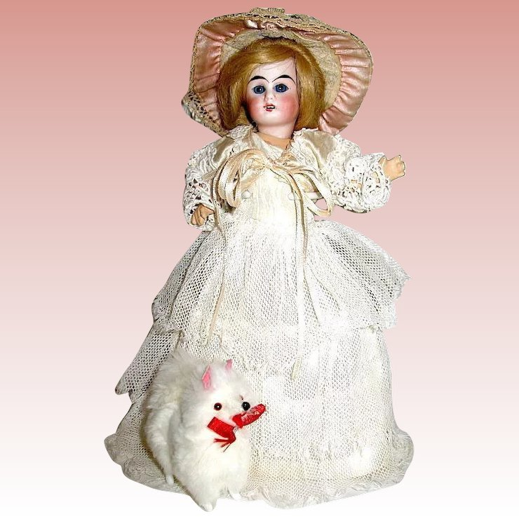 Antique German Belton Bride Doll, All Orig. - Lace Chemise, Gown ...