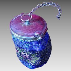 Art Deco Flapper Style Micro Beaded Cylinder Purse