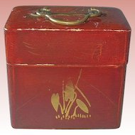 Antique Vantines Sealed Mini Perfume Bottles in Beautiful Oriental Case