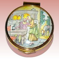 Vintage Franklin Mint English Enamel Porcelain Poetry Box,  Ben Johnson