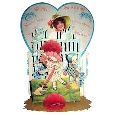 Freixas Signed Large Pop Up Honeycomb Valentine's Day Display, Postcard Related