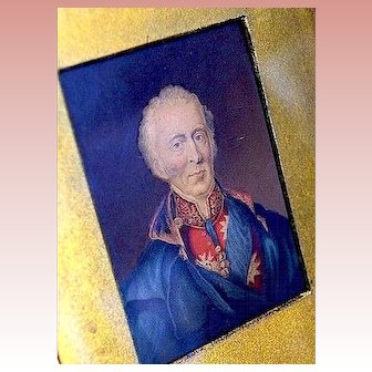 Miniature Painting of mid-1700's Military Officer