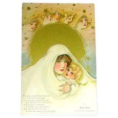 "Samuel Schmucker Pristine Set of ""Childhood Days"" Postcards w Original Envelope"