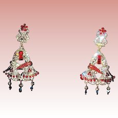 Dazzling Large Holiday Bell Shaped Crystal Earrings - MIBB ~ Heidi Daus