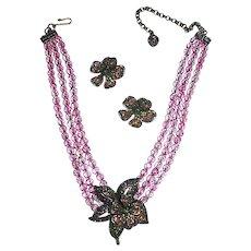 LAYAWAY ~ Dazzling Crystal Pendant Necklace Set - Heidi Daus Retired