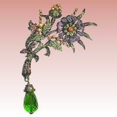 Dazzling Iridescent Designer Brooch ~ Heidi Daus ~ Retired