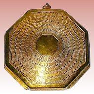"Rare ""Fioret Paris"" Marked Octagon Shaped Art Deco Compact"