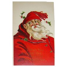 Exceptional Great Big Santa Claus Christmas Postcard