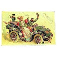 Happy New Year German GEL Postcard ~ Great Graphics