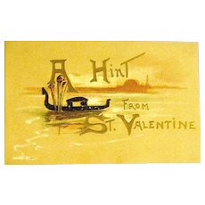 H.B. Griggs Mechanical Fold Out Scenic Valentine Postcard