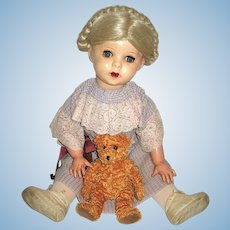 """French UNIS/SFBJ Twirp Character Doll, 25 INCHES, """"Incassables"""" Head, Original French Body"""