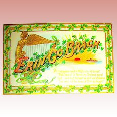 "Pretty Tuck Saint Patrick's Day Postcard—""Erin Go Brac"""